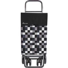 Kolica za kupovinu Rolser Classic Dama 4.2 Tour (4 kotača), crno/bijela