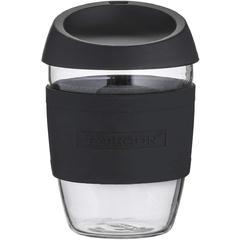 Čaša staklena Typhoon TO GO, crna, 400 ml